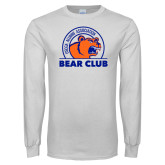 White Long Sleeve T Shirt-Bear Club