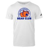 Adidas White Logo T Shirt-Bear Club