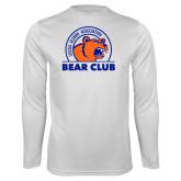 Performance White Longsleeve Shirt-Bear Club