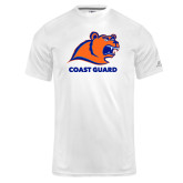 Russell Core Performance White Tee-Primary Logo