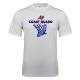 Performance White Tee-Basketball Net