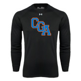 Under Armour Black Long Sleeve Tech Tee-Secondary Logo