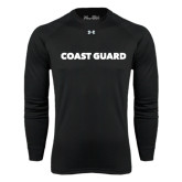 Under Armour Black Long Sleeve Tech Tee-Coast Guard