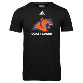Adidas Climalite Black Ultimate Performance Tee-Primary Logo