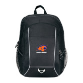 Atlas Black Computer Backpack-Primary Logo