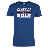 Ladies Royal T-Shirt-Class Of - Stripes