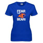 Ladies Royal T Shirt-Fear the Bear
