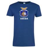 Ladies Royal T Shirt-Coast Guard Academy Seal