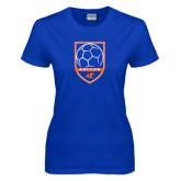 Ladies Royal T Shirt-Soccer Shield