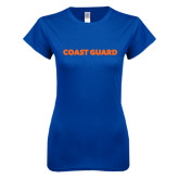 Next Level Ladies SoftStyle Junior Fitted Royal Tee-Coast Guard