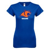 Next Level Ladies SoftStyle Junior Fitted Royal Tee-Sailing