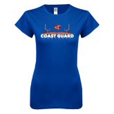 Next Level Ladies SoftStyle Junior Fitted Royal Tee-Football Field