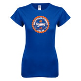 Next Level Ladies SoftStyle Junior Fitted Royal Tee-Sailing Seal