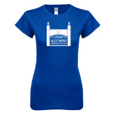 Next Level Ladies SoftStyle Junior Fitted Royal Tee-Coast Guard Academy Alumni Association
