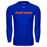 Under Armour Royal Long Sleeve Tech Tee-Coast Guard
