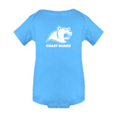 Light Blue Infant Onesie-Primary Logo