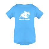 Light Blue Infant Onesie-Primary Logo