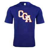 Performance Royal Heather Contender Tee-Secondary Logo