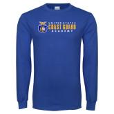 Royal Long Sleeve T Shirt-Coast Guard Academy
