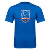 Performance Royal Tee-Soccer Shield