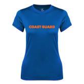 Ladies Syntrel Performance Royal Tee-Coast Guard
