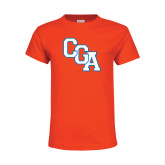 Youth Orange T Shirt-Secondary Logo