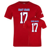 Adidas Red Logo T Shirt-Coast Guard 17
