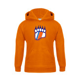 Youth Orange Fleece Hoodie-Tertiary Logo