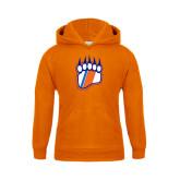 Youth Orange Fleece Hoodie-Tertiary Logo