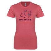 Next Level Ladies SoftStyle Junior Fitted Pink Tee-Primary Logo