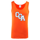 Orange Tank Top-Secondary Logo