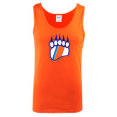 Orange Tank Top-Tertiary Logo