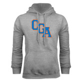 Grey Fleece Hoodie-Secondary Logo