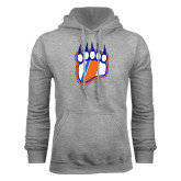 Grey Fleece Hoodie-Tertiary Logo