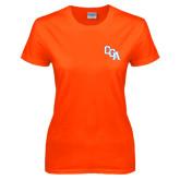 Ladies Orange T Shirt-Secondary Logo