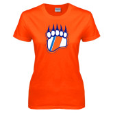Ladies Orange T Shirt-Tertiary Logo