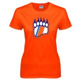 Ladies Orange T Shirt-Tertiary Logo