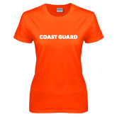 Ladies Orange T Shirt-Coast Guard