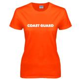 Ladies Orange T Shirt-Coast Guard