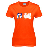 Ladies Orange T Shirt-Beat Kings Point with Claw