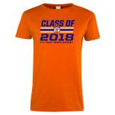 Ladies Orange T Shirt-Class Of - Stripes