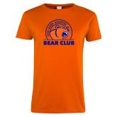 Ladies Orange T Shirt-Bear Club