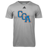 Adidas Climalite Sport Grey Ultimate Performance Tee-Secondary Logo