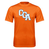 Performance Orange Tee-Secondary Logo