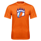 Performance Orange Tee-Tertiary Logo