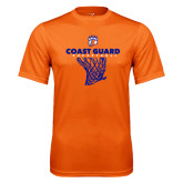 Performance Orange Tee-Basketball Net with Claw