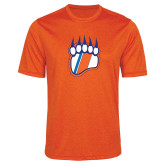 Performance Orange Heather Contender Tee-Tertiary Logo