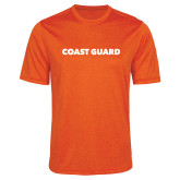 Performance Orange Heather Contender Tee-Coast Guard
