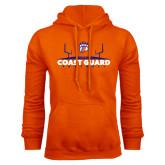 Orange Fleece Hoodie-Football Field with Claw