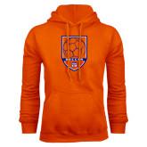 Orange Fleece Hoodie-Soccer Shield